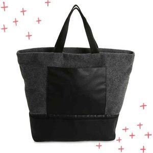 NWT DSW gray felt weekender overnighter tote bag